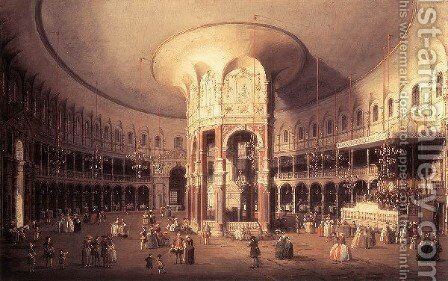 London   Ranelagh Interior Of The Rotunda 1754 by (Giovanni Antonio Canal) Canaletto - Reproduction Oil Painting