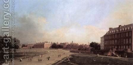 London The Old Horse Guards From St James S Park by (Giovanni Antonio Canal) Canaletto - Reproduction Oil Painting