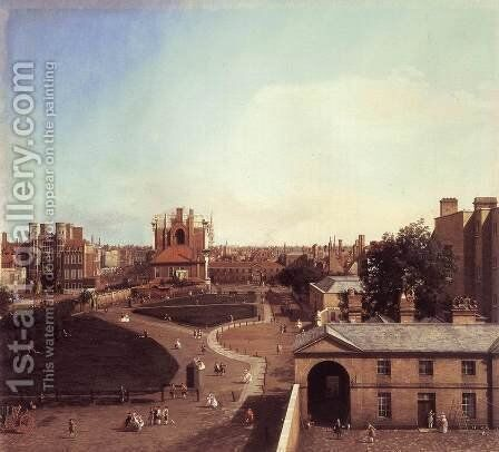 London Whitehall And The Privy Garden From Richmond House by (Giovanni Antonio Canal) Canaletto - Reproduction Oil Painting