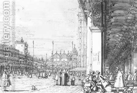 Piazza San Marco   Looking East From The South West Corner Ii by (Giovanni Antonio Canal) Canaletto - Reproduction Oil Painting