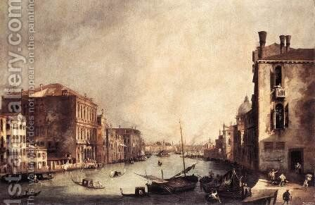 Rio Dei Mendicanti   Looking South by (Giovanni Antonio Canal) Canaletto - Reproduction Oil Painting