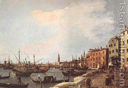 Riva Degli Schiavoni   West Side by (Giovanni Antonio Canal) Canaletto - Reproduction Oil Painting