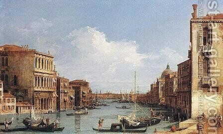 The Grand Canal From Campo S  Vio Towards The Bacino by (Giovanni Antonio Canal) Canaletto - Reproduction Oil Painting