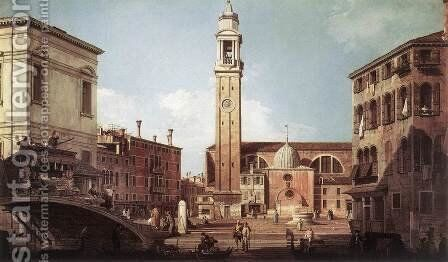 View Of Campo Santi Apostoli by (Giovanni Antonio Canal) Canaletto - Reproduction Oil Painting