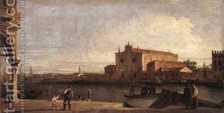 View Of San Giovanni Dei Battuti At Murano by (Giovanni Antonio Canal) Canaletto - Reproduction Oil Painting