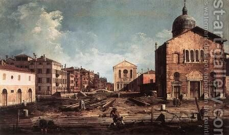 View Of San Giuseppe Di Castello by (Giovanni Antonio Canal) Canaletto - Reproduction Oil Painting