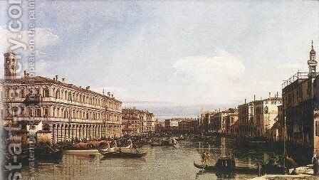 View Of The Grand Canal by (Giovanni Antonio Canal) Canaletto - Reproduction Oil Painting