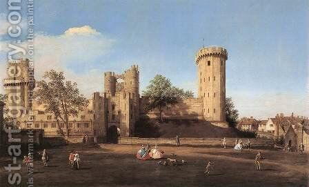 Warwick Castle   The East Front by (Giovanni Antonio Canal) Canaletto - Reproduction Oil Painting
