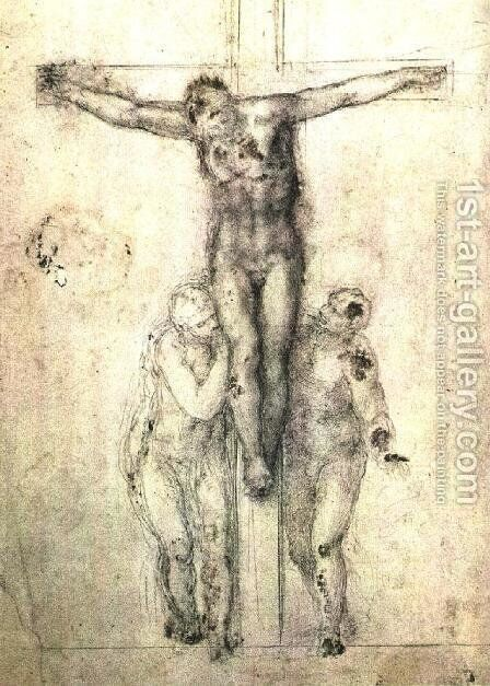 Crucifix c. 1556 by Michelangelo - Reproduction Oil Painting