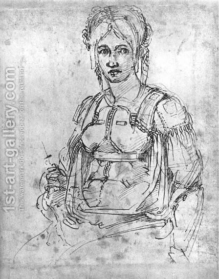 Portrait of Vittoria Colonna 1540s by Michelangelo - Reproduction Oil Painting