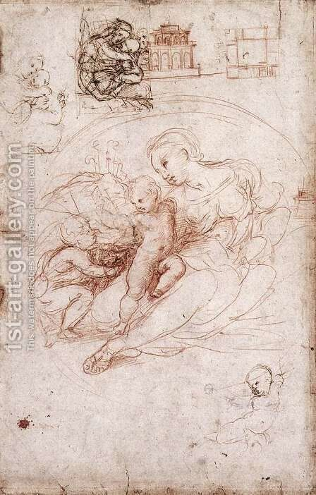 Madonna Studies by Raphael - Reproduction Oil Painting