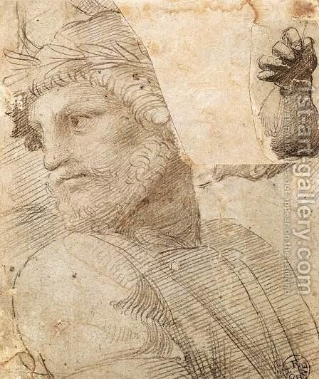 Study For The Head Of A Poet by Raphael - Reproduction Oil Painting