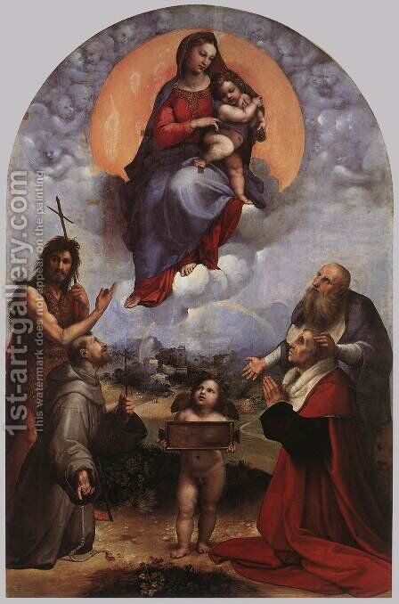 The Madonna of Foligno 1511-12 by Raphael - Reproduction Oil Painting