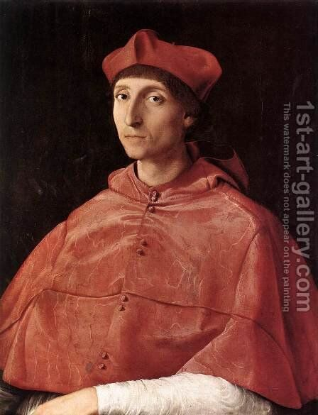 Portrait of a Cardinal 1510 by Raphael - Reproduction Oil Painting