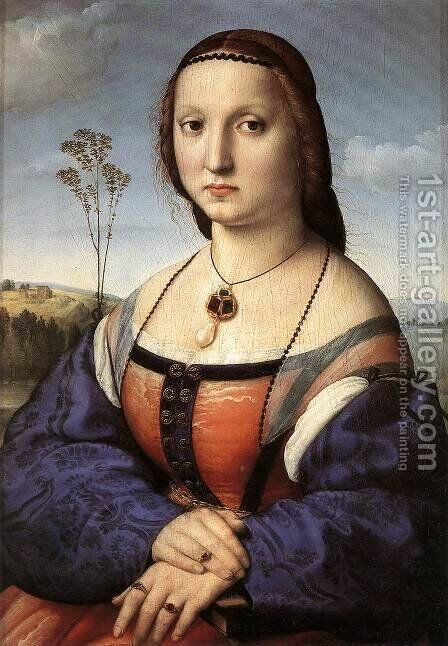 Portrait Of Maddalena Doni by Raphael - Reproduction Oil Painting