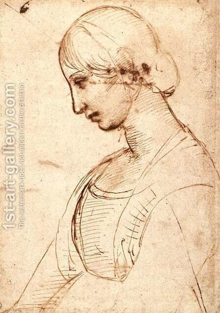Waist Length Figure Of A Young Woman by Raphael - Reproduction Oil Painting