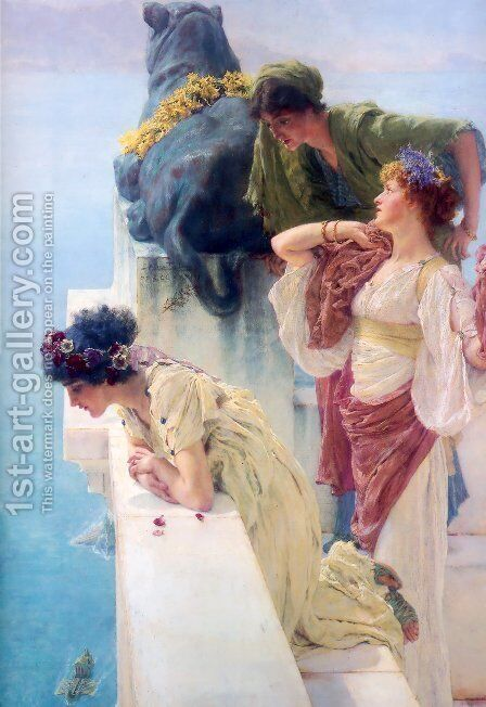 A Coign Of Vantage 1895 by Sir Lawrence Alma-Tadema - Reproduction Oil Painting