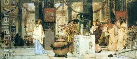 The Vintage Festival by Sir Lawrence Alma-Tadema - Reproduction Oil Painting