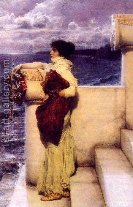 Hero by Sir Lawrence Alma-Tadema - Reproduction Oil Painting
