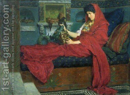Agrippina With The Ashes Of Germanicus by Sir Lawrence Alma-Tadema - Reproduction Oil Painting