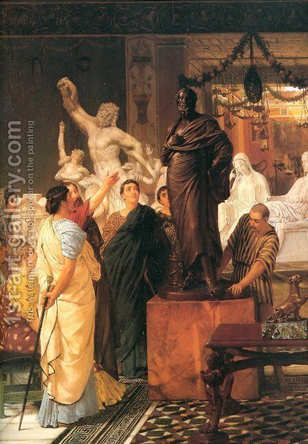 A Sculpture Gallery 1867 by Sir Lawrence Alma-Tadema - Reproduction Oil Painting