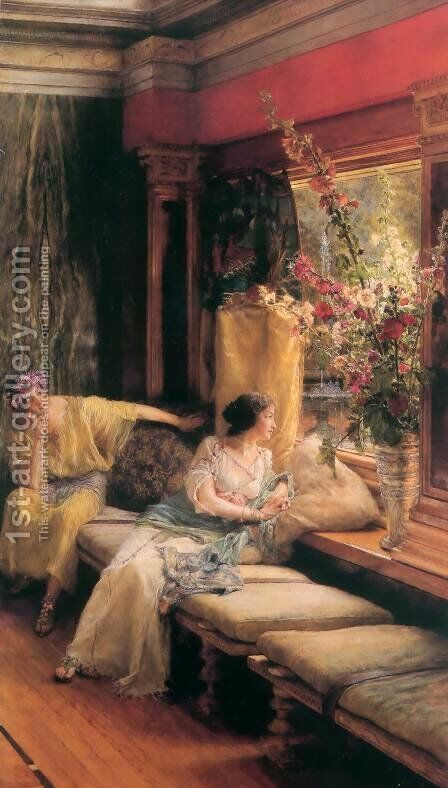 Vain Courtship 1900 by Sir Lawrence Alma-Tadema - Reproduction Oil Painting