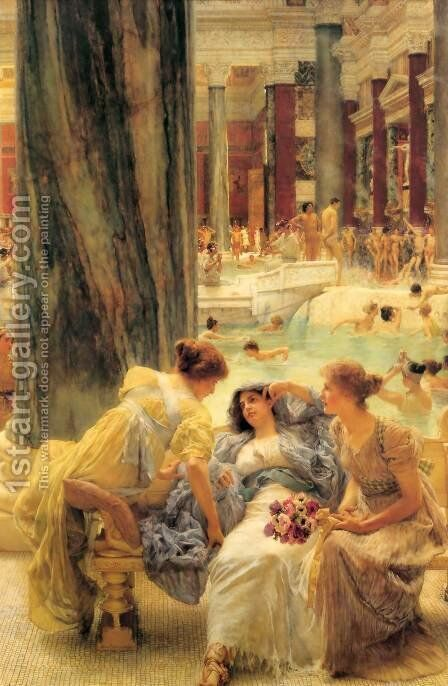 The Baths Of Caracalla 1899 by Sir Lawrence Alma-Tadema - Reproduction Oil Painting