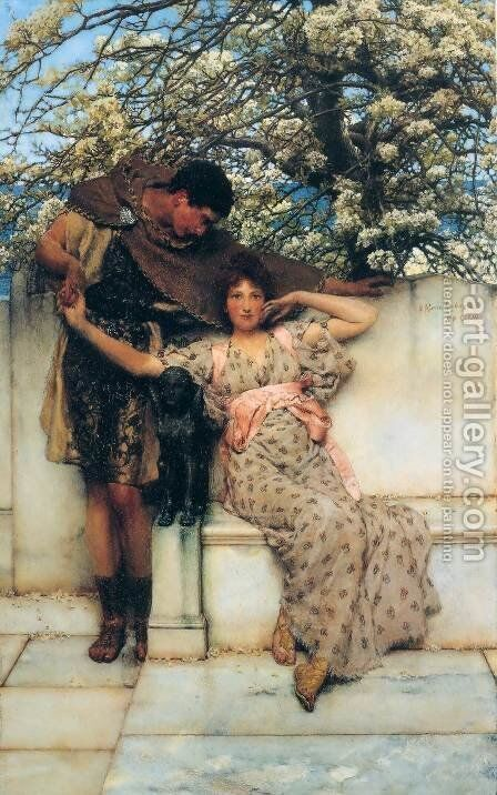 Promise Of Spring 1890 by Sir Lawrence Alma-Tadema - Reproduction Oil Painting