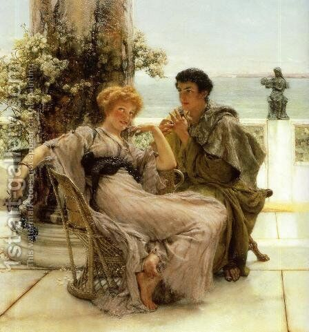 Courtship   The Proposal by Sir Lawrence Alma-Tadema - Reproduction Oil Painting