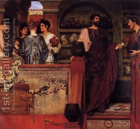 Hadrian Visiting A Romano British Pottery by Sir Lawrence Alma-Tadema - Reproduction Oil Painting