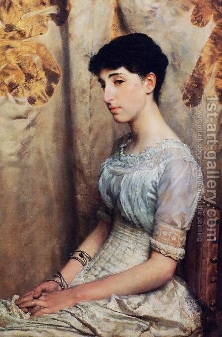 Miss Alice Lewis by Sir Lawrence Alma-Tadema - Reproduction Oil Painting