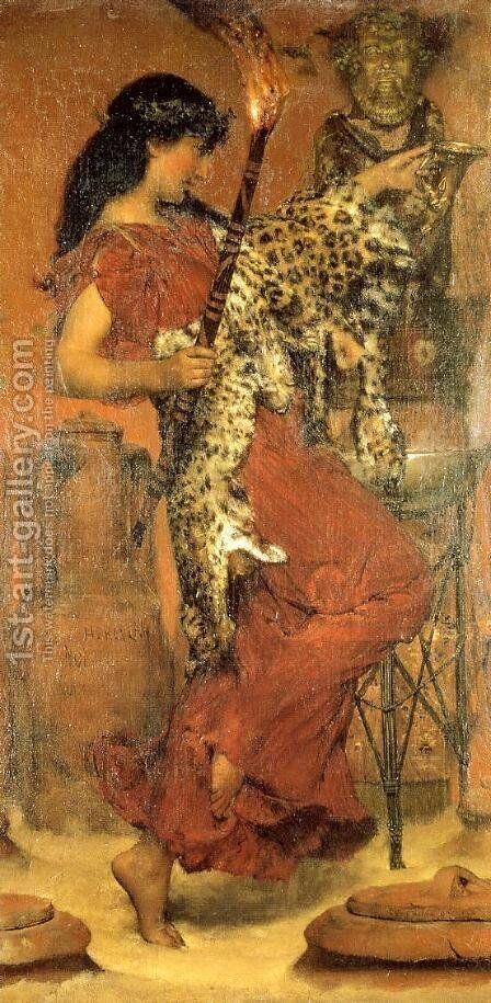 Autumn  Vintage Festival by Sir Lawrence Alma-Tadema - Reproduction Oil Painting