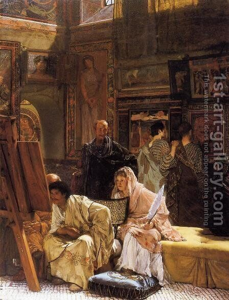 The Picture Gallery by Sir Lawrence Alma-Tadema - Reproduction Oil Painting