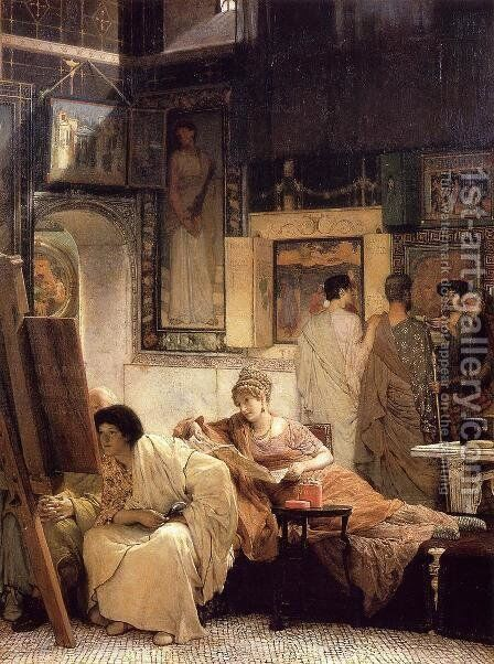 A Picture Gallery by Sir Lawrence Alma-Tadema - Reproduction Oil Painting