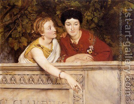 Gallo Roman Women by Sir Lawrence Alma-Tadema - Reproduction Oil Painting