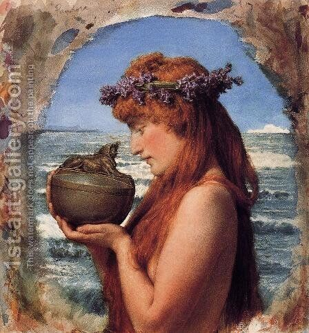 Pastimes In Ancient Egyupe 3000 Years Ago by Sir Lawrence Alma-Tadema - Reproduction Oil Painting