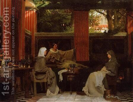 Venantius Fortunatus Reading His Poems To Radegonda VI by Sir Lawrence Alma-Tadema - Reproduction Oil Painting