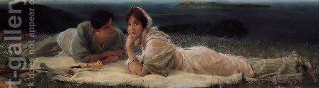 A World Of Their Own by Sir Lawrence Alma-Tadema - Reproduction Oil Painting