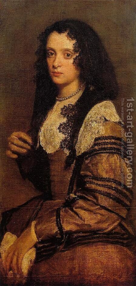 A Young Lady by Velazquez - Reproduction Oil Painting
