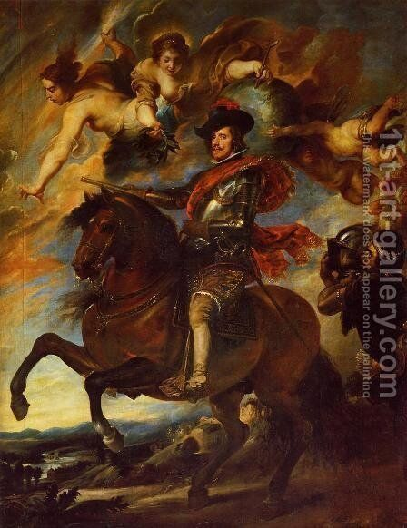Allegorical Portrait Of Philip IV by Velazquez - Reproduction Oil Painting