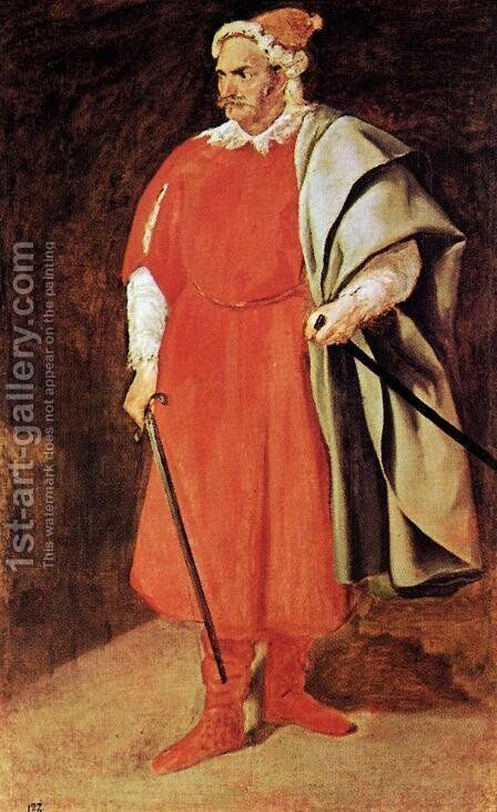 Buffoon Barbarroja by Velazquez - Reproduction Oil Painting