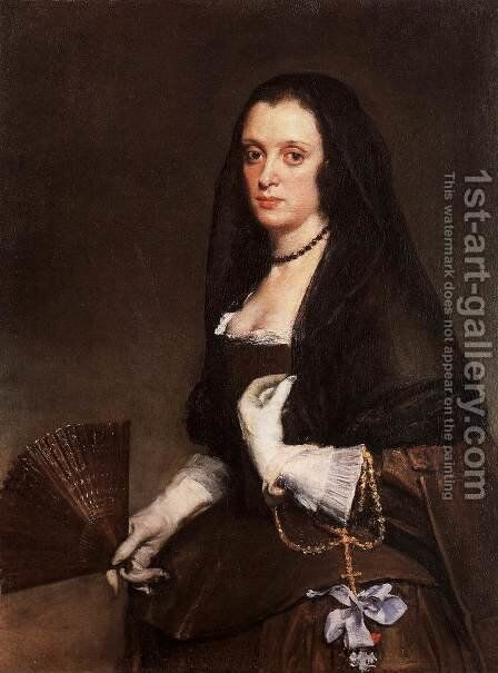 Lady With A Fan by Velazquez - Reproduction Oil Painting