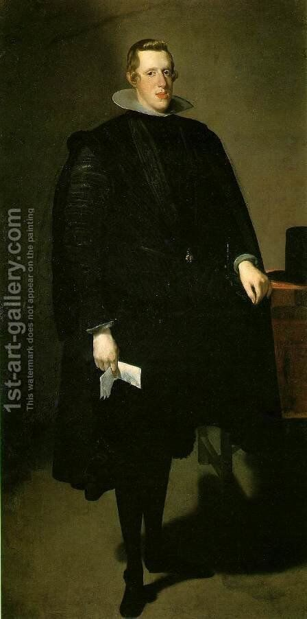 Philip IV   Standing by Velazquez - Reproduction Oil Painting