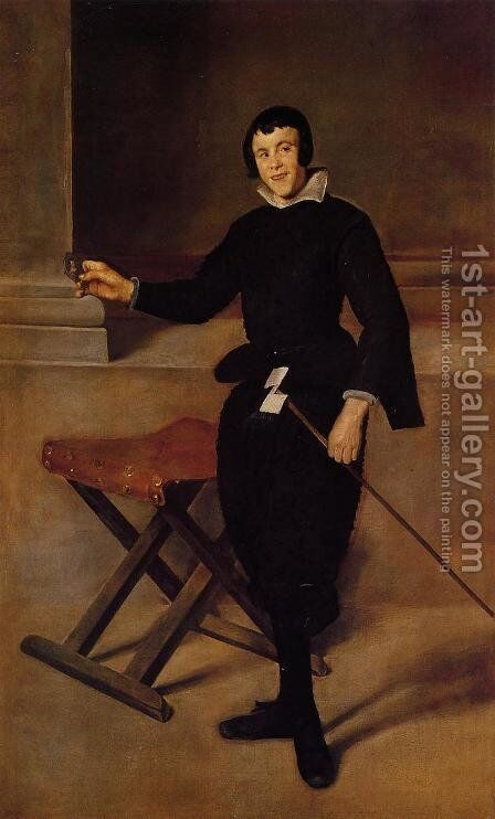 The Buffoon Calabazas Ii by Velazquez - Reproduction Oil Painting