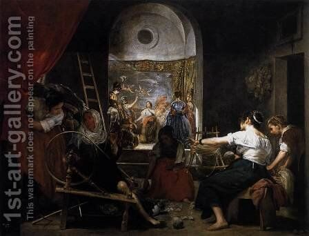 The Fable Of Arachne by Velazquez - Reproduction Oil Painting