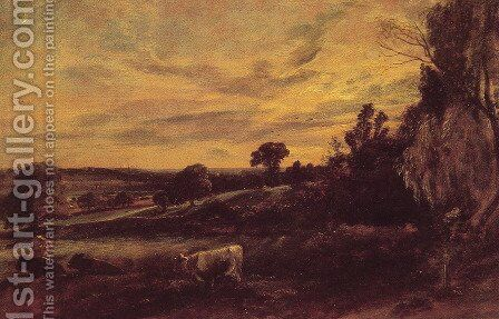 Landscape Evening by John Constable - Reproduction Oil Painting