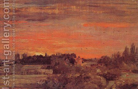 East Bergholt Rectory by John Constable - Reproduction Oil Painting