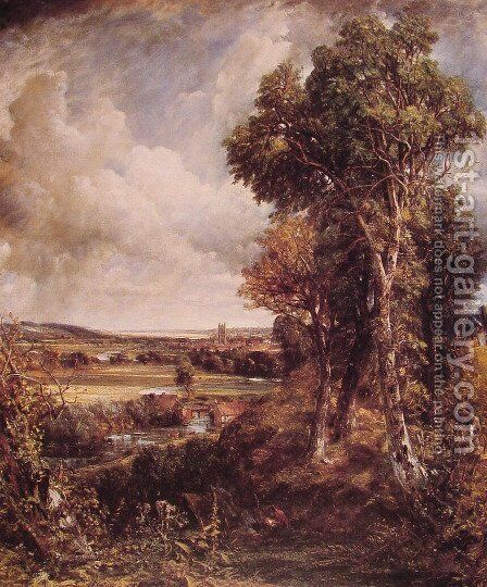 Dedham Vale 1802 by John Constable - Reproduction Oil Painting
