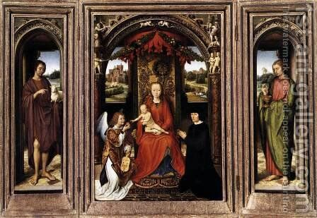 Triptych c. 1485 by Hans Memling - Reproduction Oil Painting