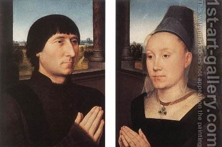 Portraits of Willem Moreel and His Wife c. 1482 by Hans Memling - Reproduction Oil Painting